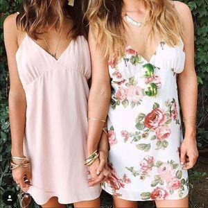 Show Me Your Mumu Blush Pink Elle Slip Mini Dress